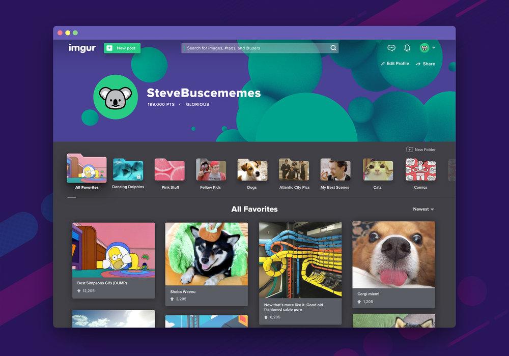 Imgur Profile on Web