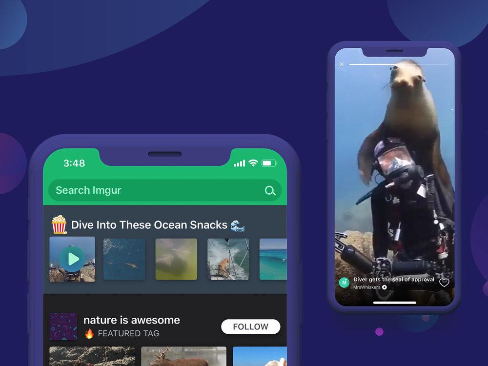 Imgur GIF Snacks on iOS