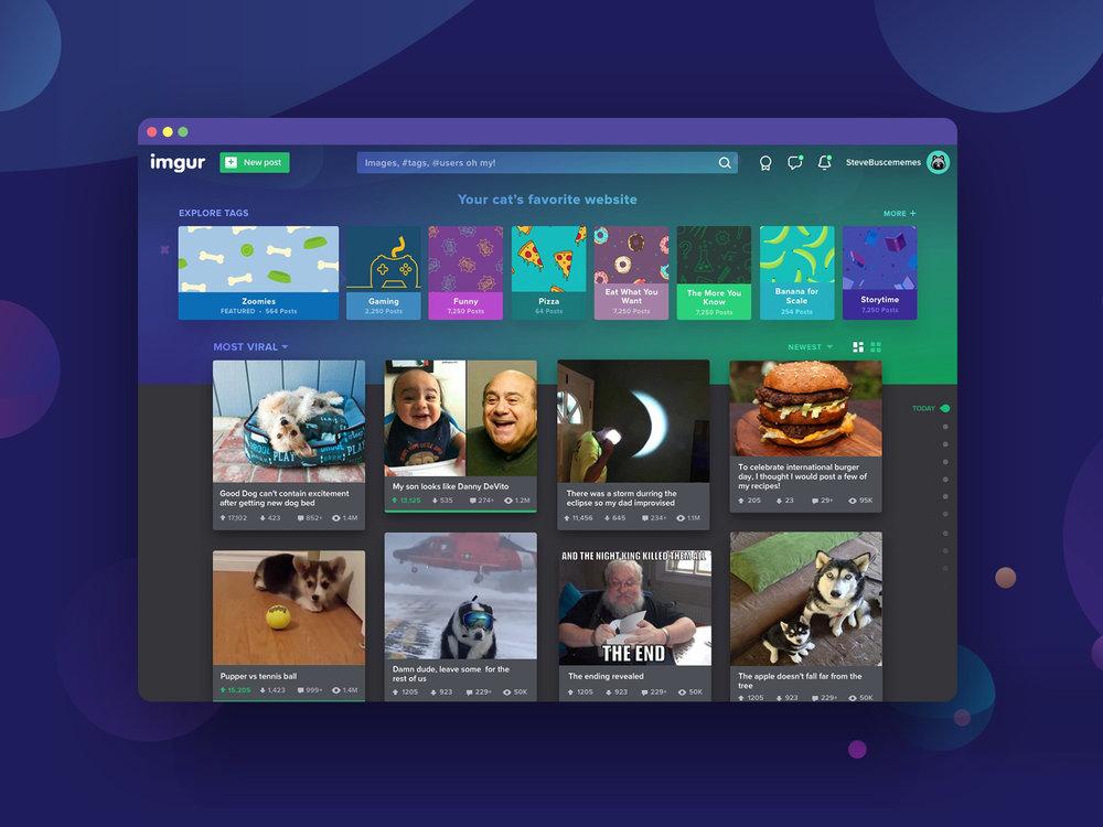Imgur Home Page Beta
