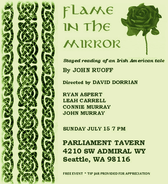 THIS SUNDAY: I'm really looking forward to bringing the first act of this BEAUTIFUL play to life in a staged reading at  Parliament Tavern  in Seattle. And it's FREE! Please come support the incredibly talented cast and creative team.