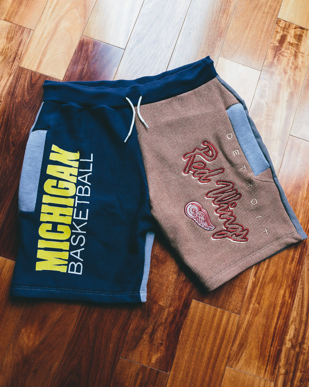 Detroit, Michigan Shorts - Michigan themed shorts from University of Michigan to the Detroit Red wings.
