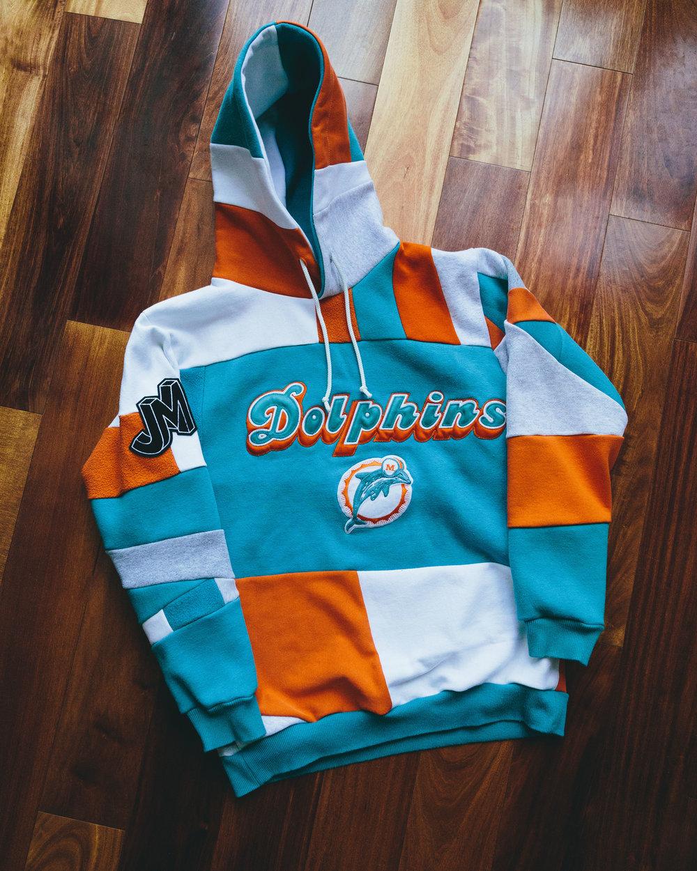Dolphins Sweatshirt - Miami teal and orange hoodie, one of my favorite colorways.