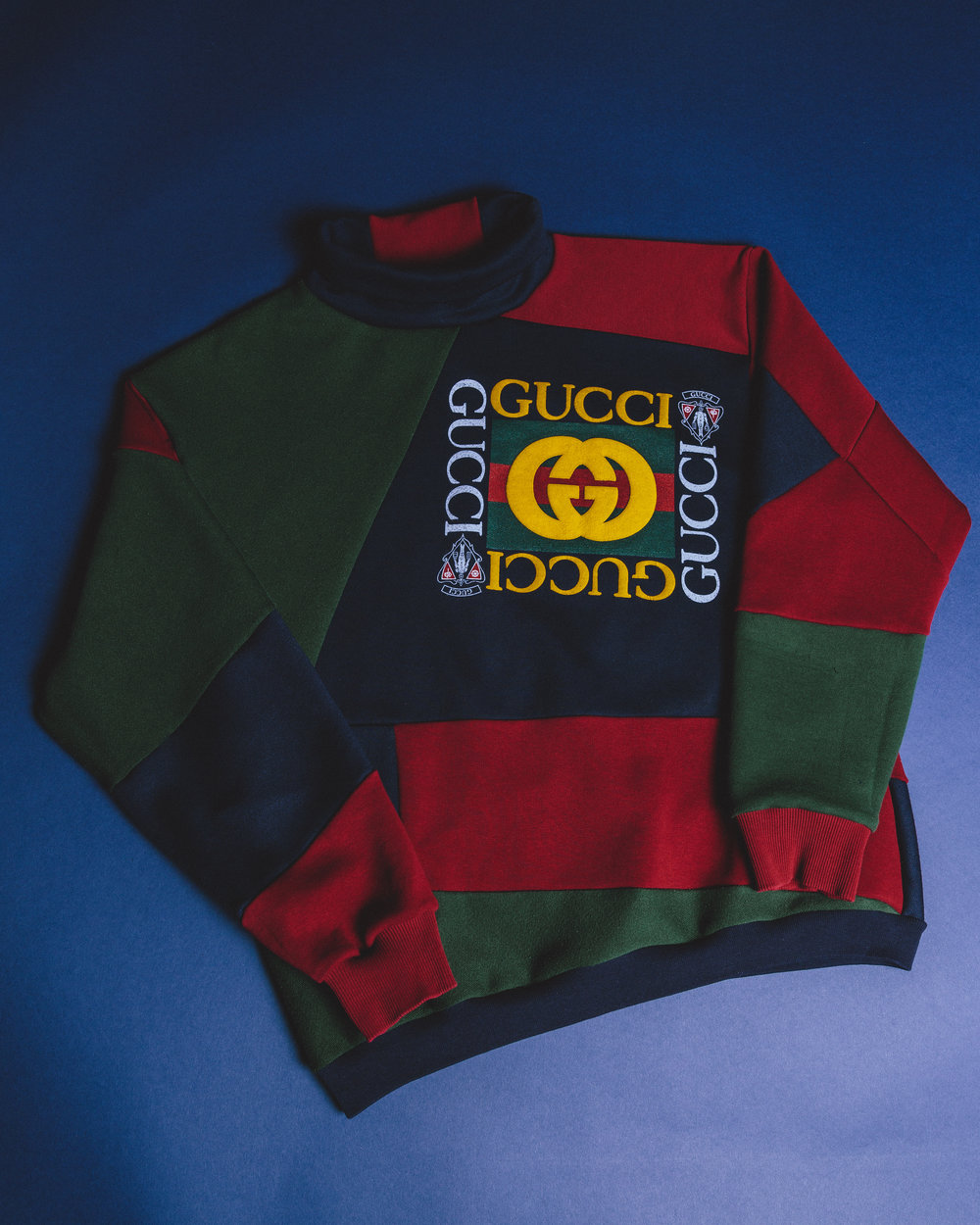 Gucci Rework - Made from a vintage gucci hoodie that had a rip down the arm so I chopped it up and reincarnated it.