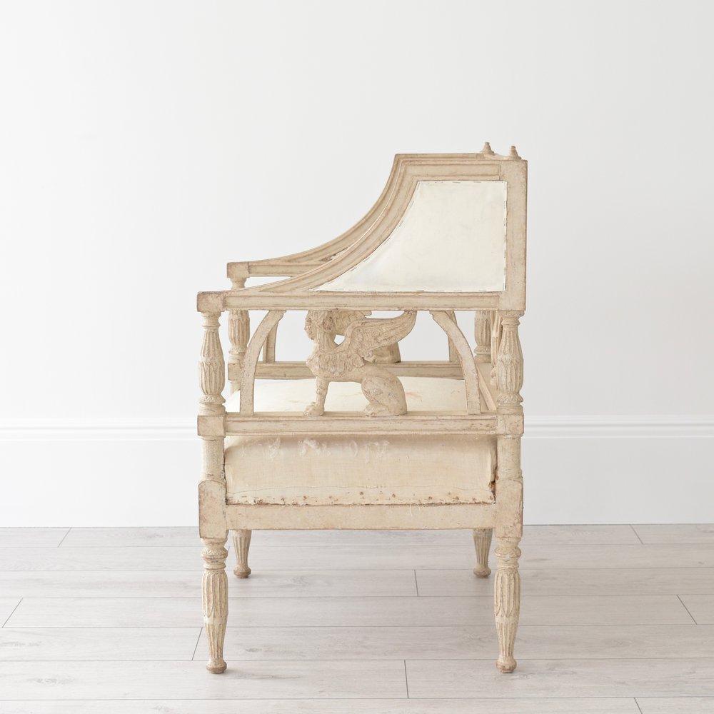 Pair Antique Swedish Empire Griffin armchairs 3.jpg