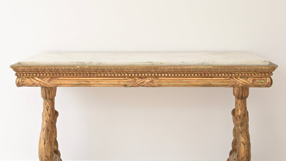 Antique Swedish Gustavian Empire gilded console table 3.jpg
