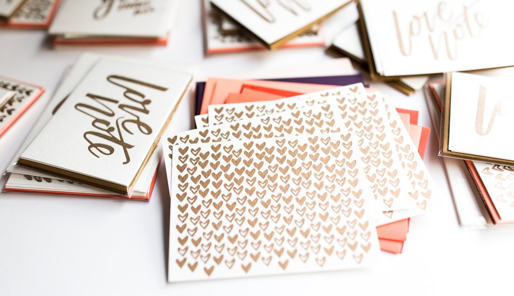 Valentine's Day - Get a head start on Valentines day with our classic 10 card heart set and love notes.