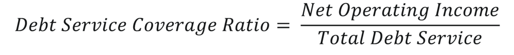 Debt Service Coverage Ratio Formula