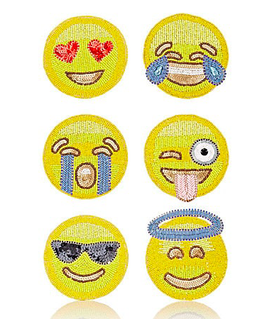 $93 Kim Seybert, Emoji Embellished Coasters: How cute are these! She also has a few other options for embellished coasters but these just stood out to me!
