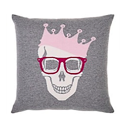 $500 Cashmere Skull Crown Pillow: I am lusting, so hard, over these pillows...why do they have to be so expensive!?! 🙄 Most def a splurge item but oh so cute as a set with the next one!