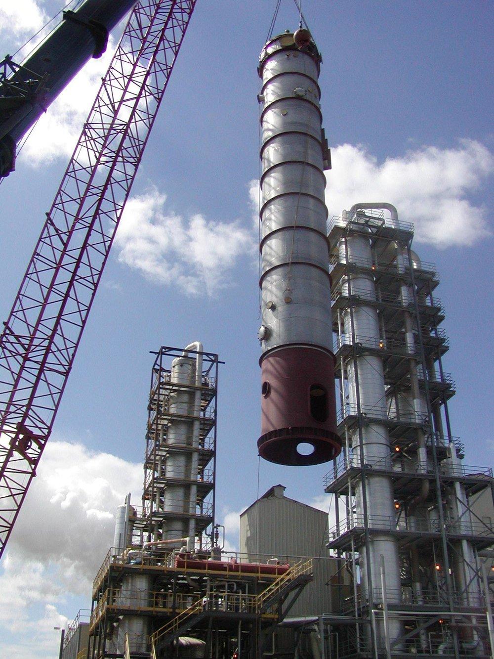 Large Waste Heat 1st Effect Evaporator – Installation