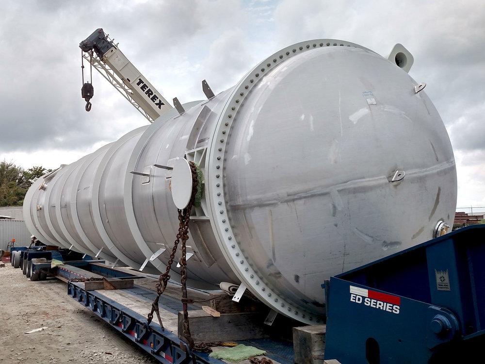 """104"""" diameter x 40' tube length shell and tube heat exchanger"""