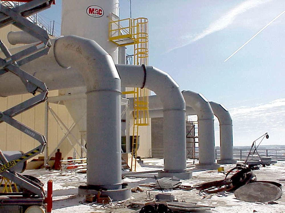 Designed, Fabricated, and Installed Ductwork and Spouting for Soybean Processing Facility