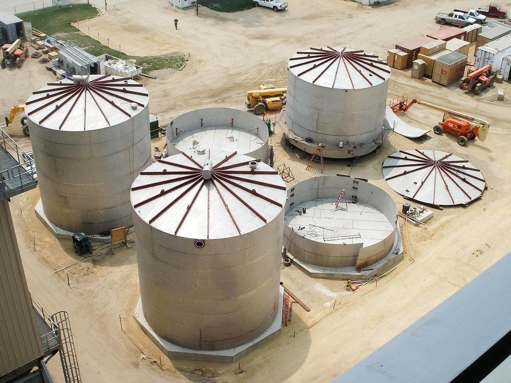 (4) Field Erected Stainless Steel De-Ionized Water Tanks