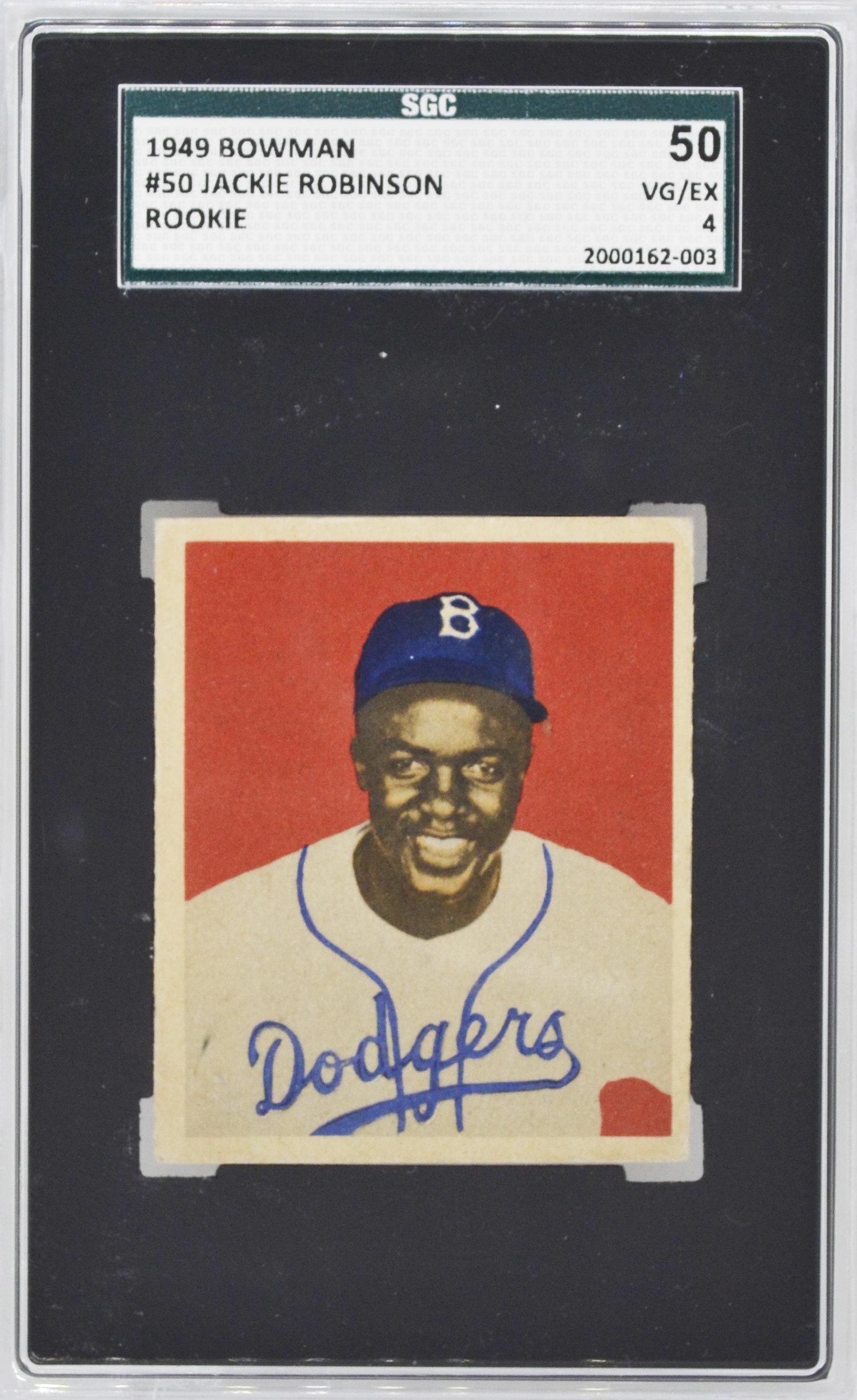 Jackie Robinson 1948 Leaf Vs 1949 Bowman Top Sports Cards