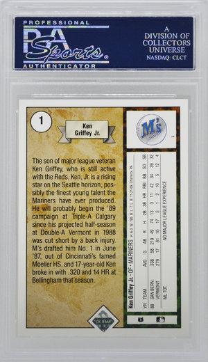 abb71c86ac 1989 Upper Deck Ken Griffey Jr. Star Rookie RC PSA 9 — Top Sports Cards