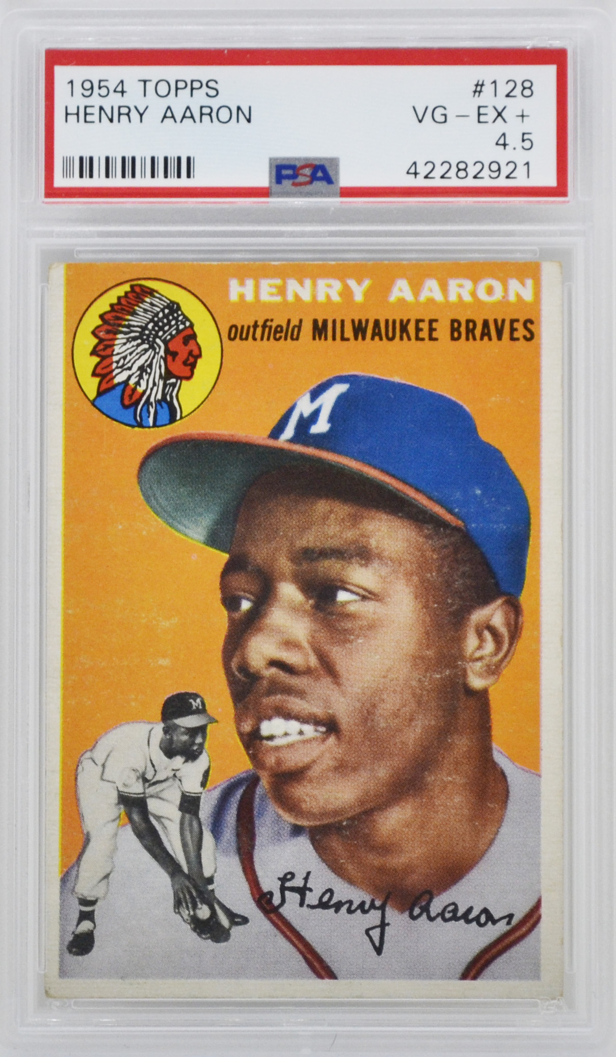 Traded 1954 Topps Hank Aaron Rookie Card Psa 45 Top Sports Cards