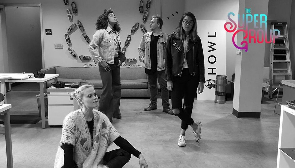 The Super Group2: The Sharpies (with Janet Varney and Hollis Wong-Wear)(July 18th, 2018) - This week, comedian Janet Varney and pop artist Hollis Wong-Wear join Alex and Tawny to write a riot girl track about feeling lost.