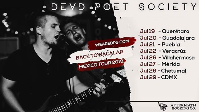 🇲🇽 see you soon ✈️ . . . #backtobacalar #mexico #tour #wearedps #deadpoetsociety