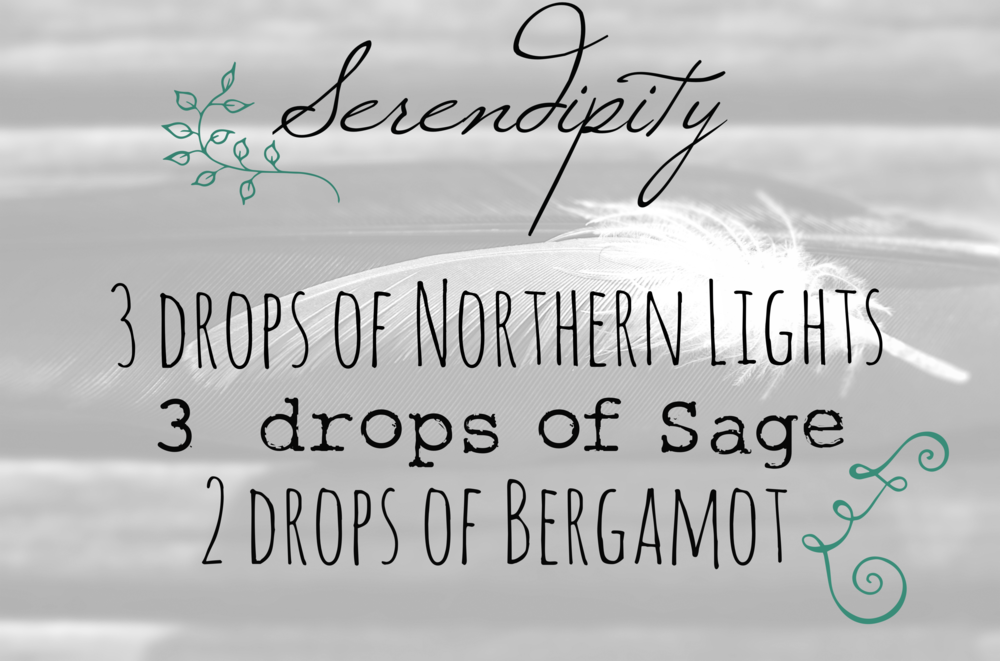 3 Drops of  Northern Lights , 3 drop of  sage , 2 drops of  bergamot