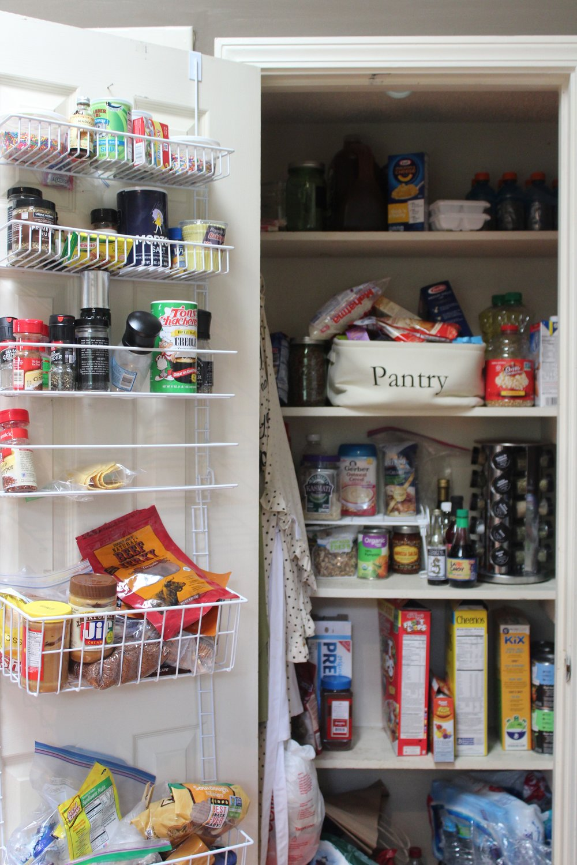 Gen's pantry before