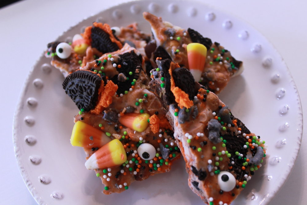 If you put it on a pretty platter, it may even accentuate the creepiness of this vomit-like treat!