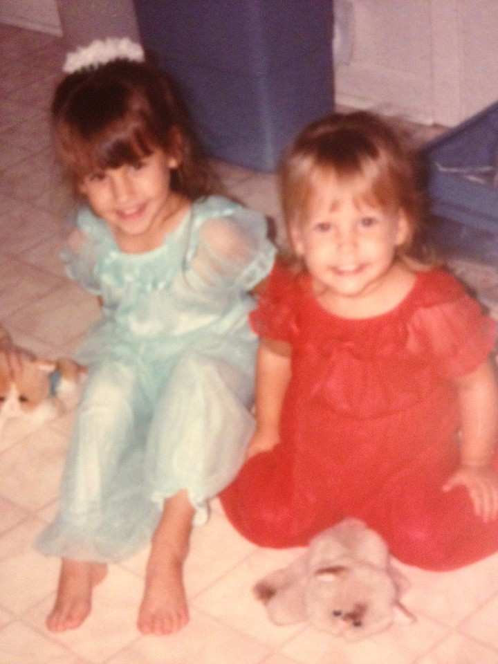 Matching princess pajamas. My stuffed cat was orange, so Kath's had to be brown, probably.