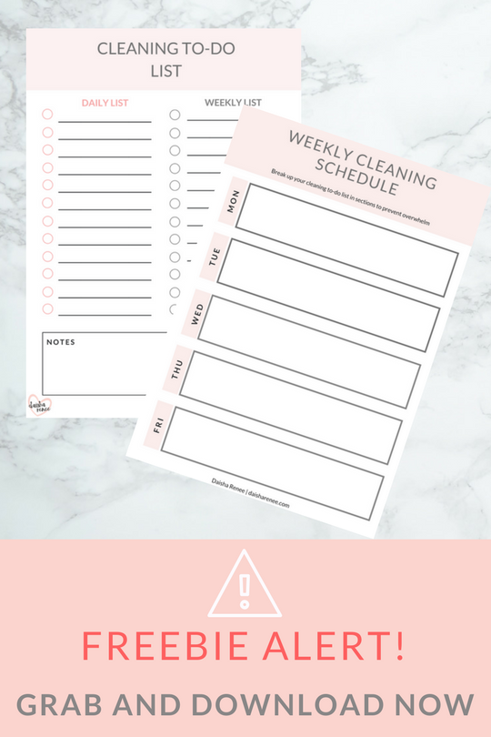 freebie alert - get your free cleaning schedule and to do list printables