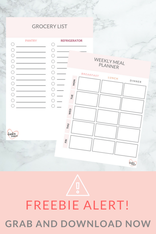freebie alert! free meal planner and grocery list planner for single moms