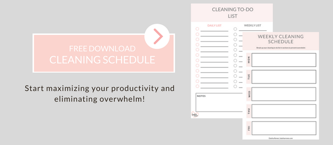 weekly cleaning schedule and to do list free printable for single moms