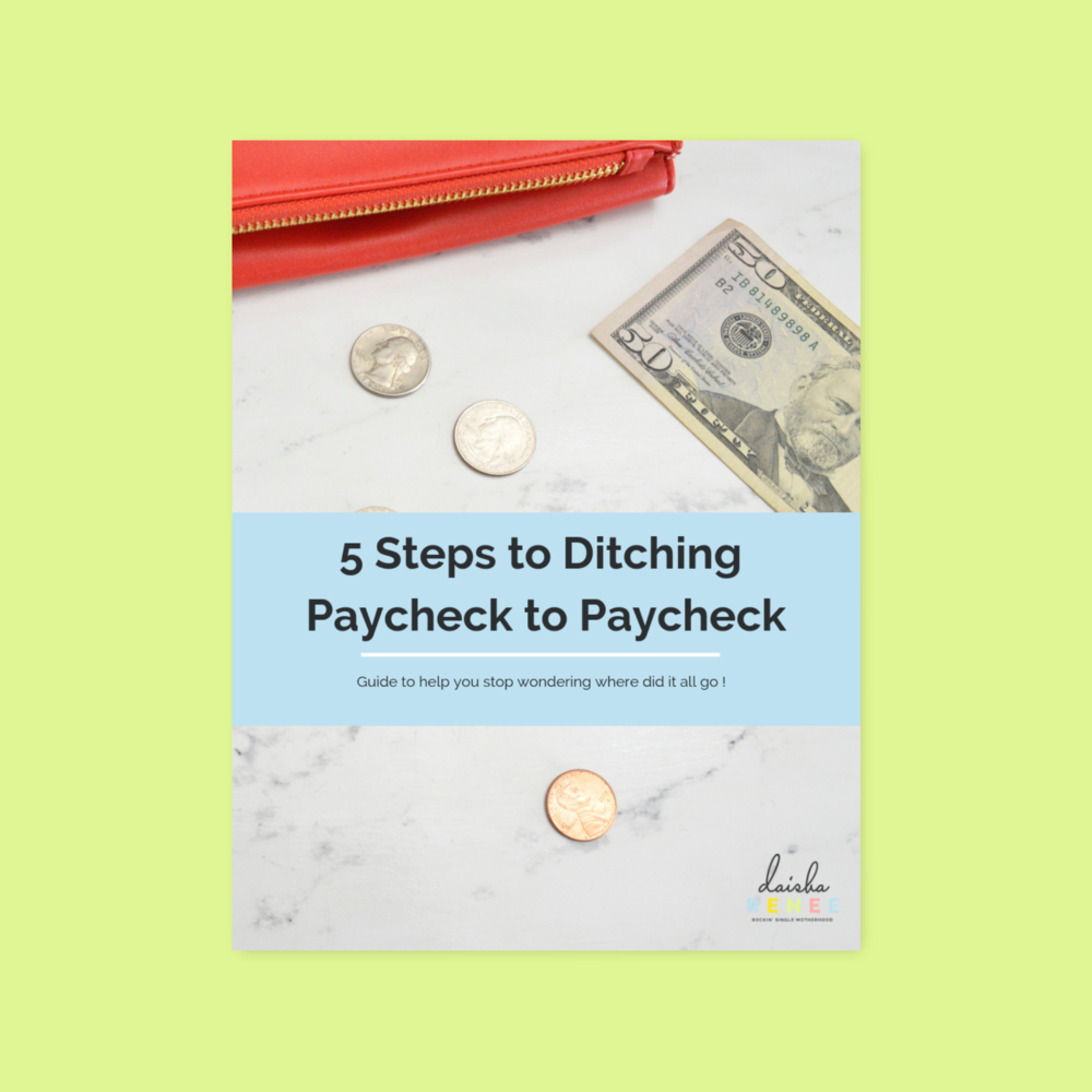 5 steps to ditching paycheck to paycheck guide