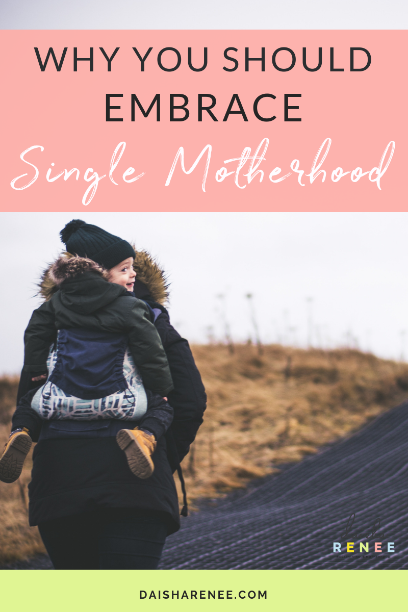 Now I'll be the first to admit that the acceptance of a situation that you never planned for is a hard thing to do, but not impossible. Over time as you learn, grown, struggle, and persevere you start to see an upside to this new life of yours. You start to embrace single motherhood.