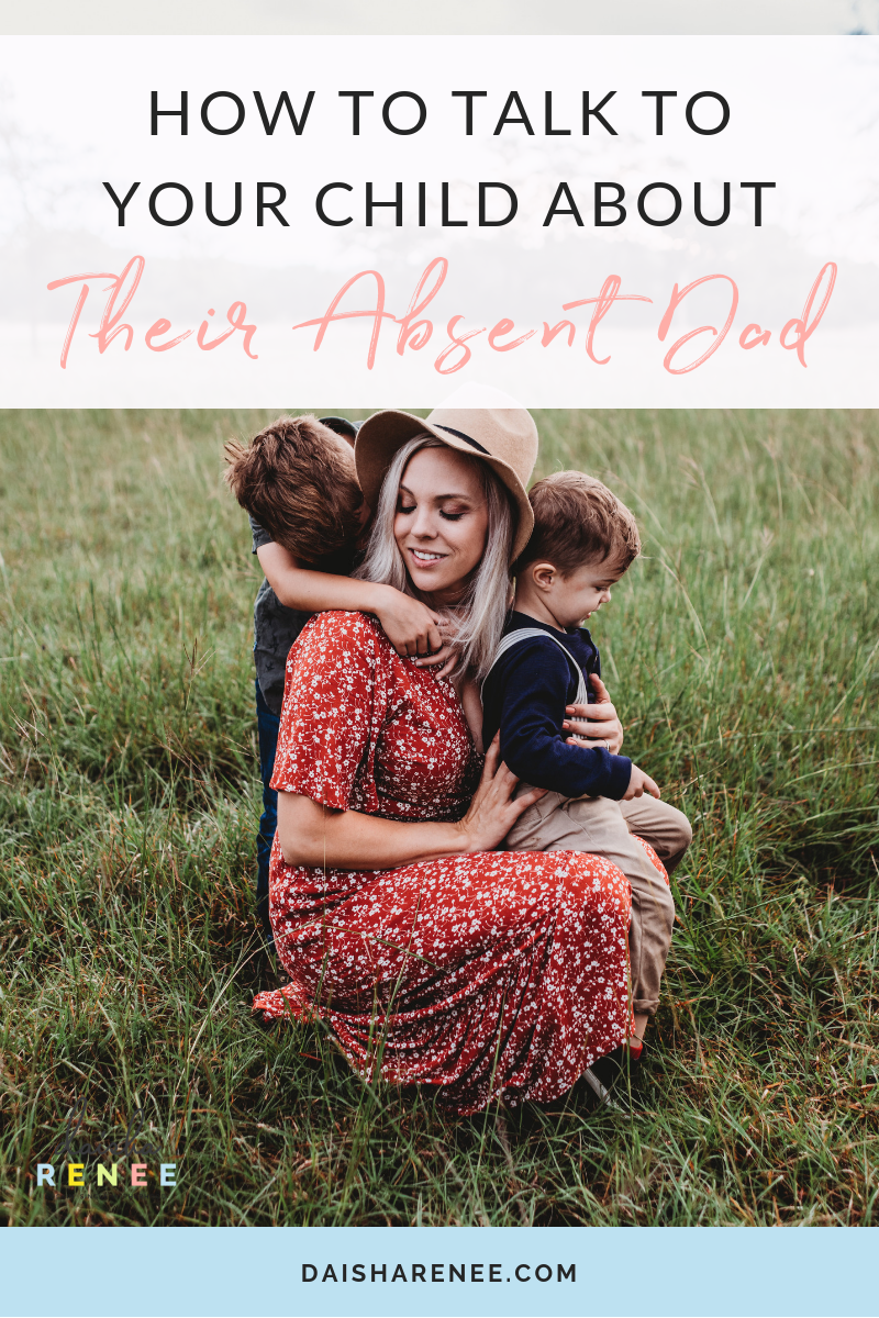 Being a single mother is exhausting, stressful, scary and because of him, full of sacrifice. When you are trying to preserve a positive memory of the of their dad, overt ime you run out of things to say. Here's how to talk to your child about their absent dad. #deadbeat #dad #singlemom