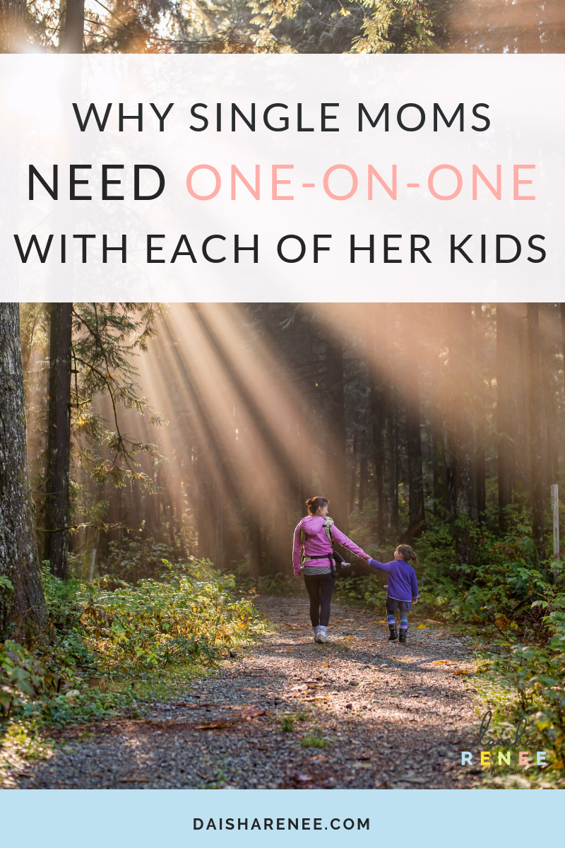Do you struggle with feeling your kids don't get enough individual quality time with you? Well, I'm sure you're not the only single mom who has felt that way. Finding time for ourselves is trouble enough, how often do we stop and think about the individual attention our children require from us as well?