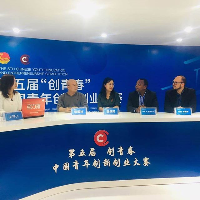 Our CEO, @peteycosta being interviewed along with other participants and  broadcasted on national television in #China #ontv #vrforgood #baltu #tech #chineseishard