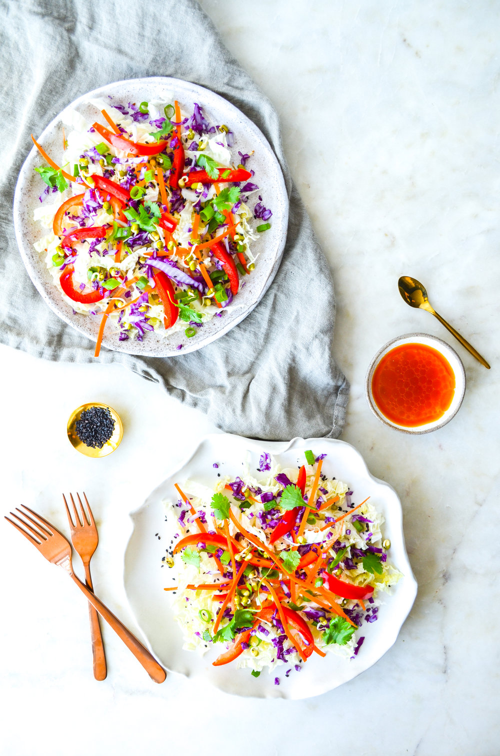 paleo thai slaw salad // ShiraRD #paleo #refinedsugarfree #SnacksbyShira