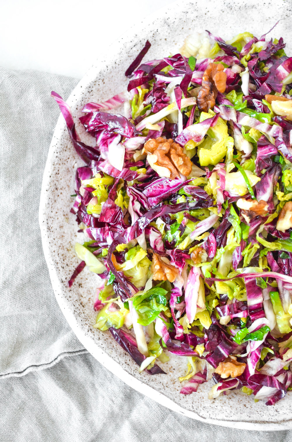 brussels sprouts salad // #ShiraRD #paleo #refinedsugarfree #SnacksbyShira