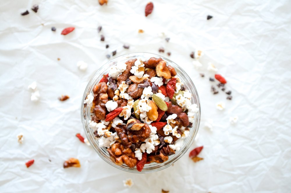 superfood trail mix // #ShiraRD #refinedsugarfree #SnacksbyShira #superfood