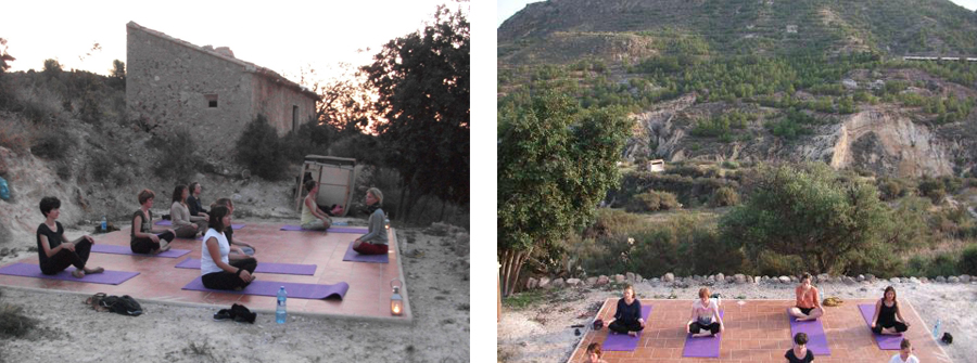 My yoga group at  Rustic Retreats in the Sierra Espuna Mountains, Southern Spain