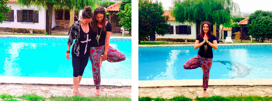 Learning how to balance with Zoe, one of my most inspirational yoga teachers, at  Om Assim Yoga School in Ericeira, Portugal
