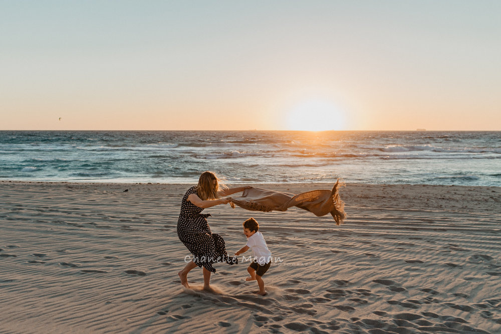 Lifestyle Sunset Sessions on Perth beaches by Chanelle Megan Photography
