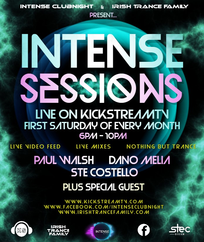 intense sessions - Tune in from the new time 6pm-10pm the first Saturday of every month only on KickstreamTV