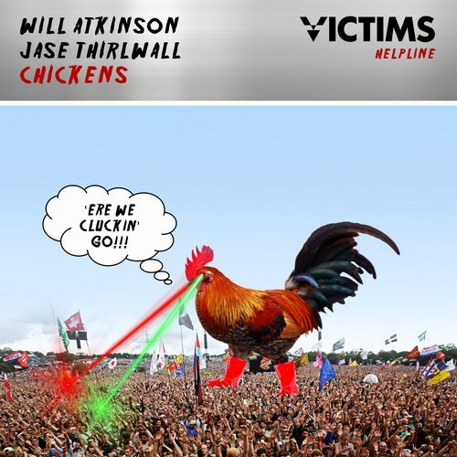 Will Atkinson & Jase Thirlwall - Chickens - You're at the festival, up to your nuts in guts and then suddenly a vast shadow gets cast over you. Is it a cloud, is it a plane? nope it's a 40 foot chicken off his balls on life. A new year brings a new label from the lord of insanity Will Atkinson. Victims Helpline will be the new home for Will's material a la Pat Butcher, Leave A Message, Bloody Nora etc... Kicking things off in a suitably wonky fashion Will teams up with fellow Scottish madman Jase Thirlwall - who kindly invite you to join them on a day out at the funny farm. Go forth and conquer.