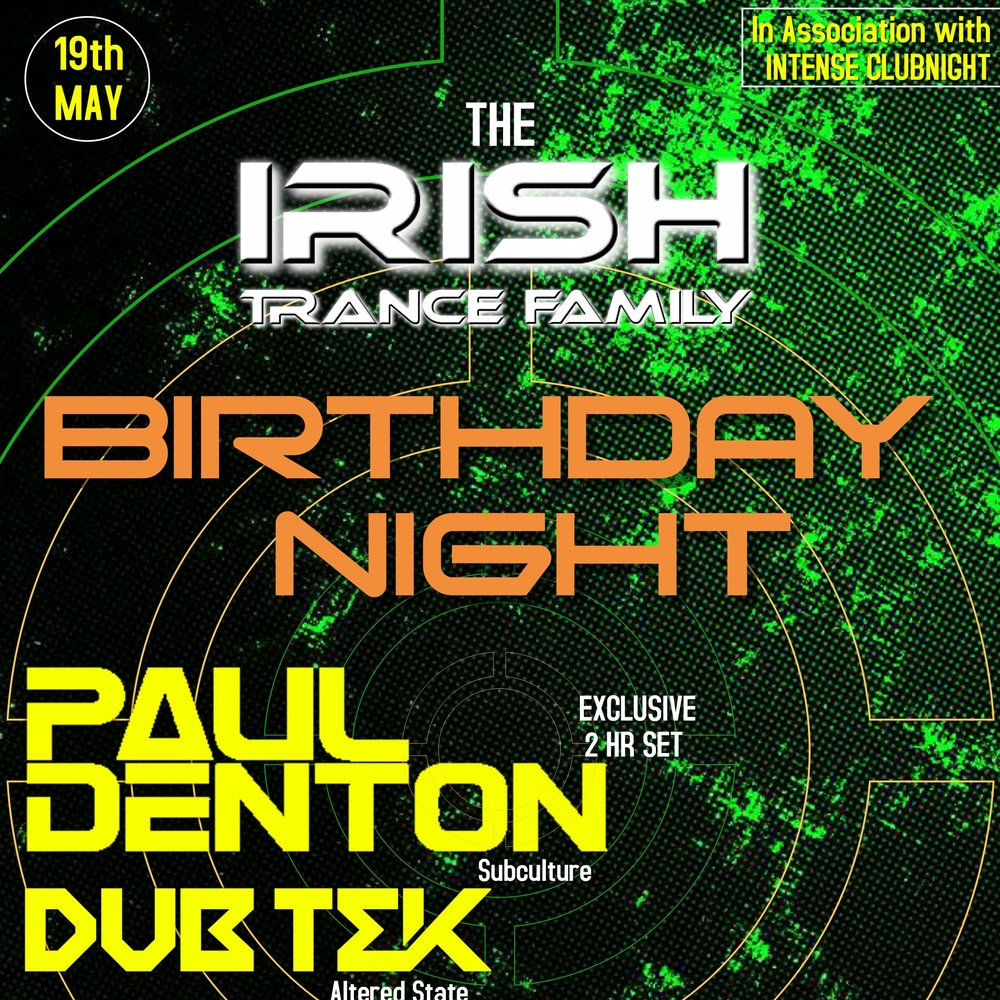 Chris Hickey B2B Tom Cussen Live @ Irish Trance Family Birthday -