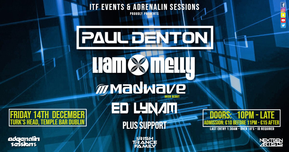 ITF Christmas Sesh! in association with Adrenalin Sessions - 14.12.2018