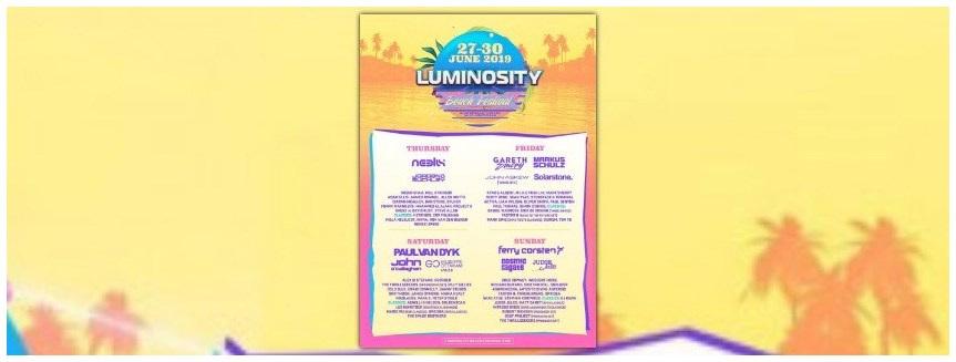 FULL LINE-UP ANNOUNCED - LUMINOSITY BEACH FESTIVAL 2019