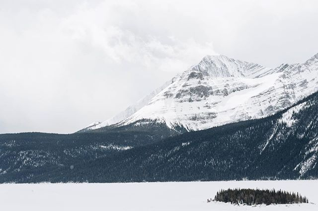The wind blowing some snow of the peaks.  #upperkananaskislake #kananaskis #kananaskiscountry #peterlougheedprovincialpark  #peterlougheed #canada #vsco #vscocam #instatravel #alberta #tourismalberta #explore #explorecreate #winter #createandcapture #adventuretime #travelalberta #explorecanada #abparks