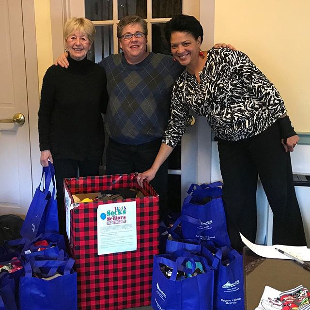 Socks for Seniors drive was a huge success! Over 750 socks collected this year! That's a record-breaking number—almost double the number collected last year! Big thanks to Raymie and Kathy who organized the drive and to all who donated. Go Stoneham! #socksforseniors #volunteer #stonehamseniorcenter