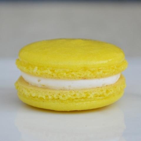 LEMON MACARON: a lemon macaron with a zesty lemon buttercream. This macaron is gluten free.