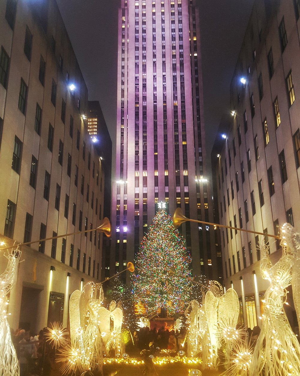 Rockefeller Center - the first lighting of the tree in November announces the official beginning of the holiday season in NYC. It was lit last night for the 2017 season!