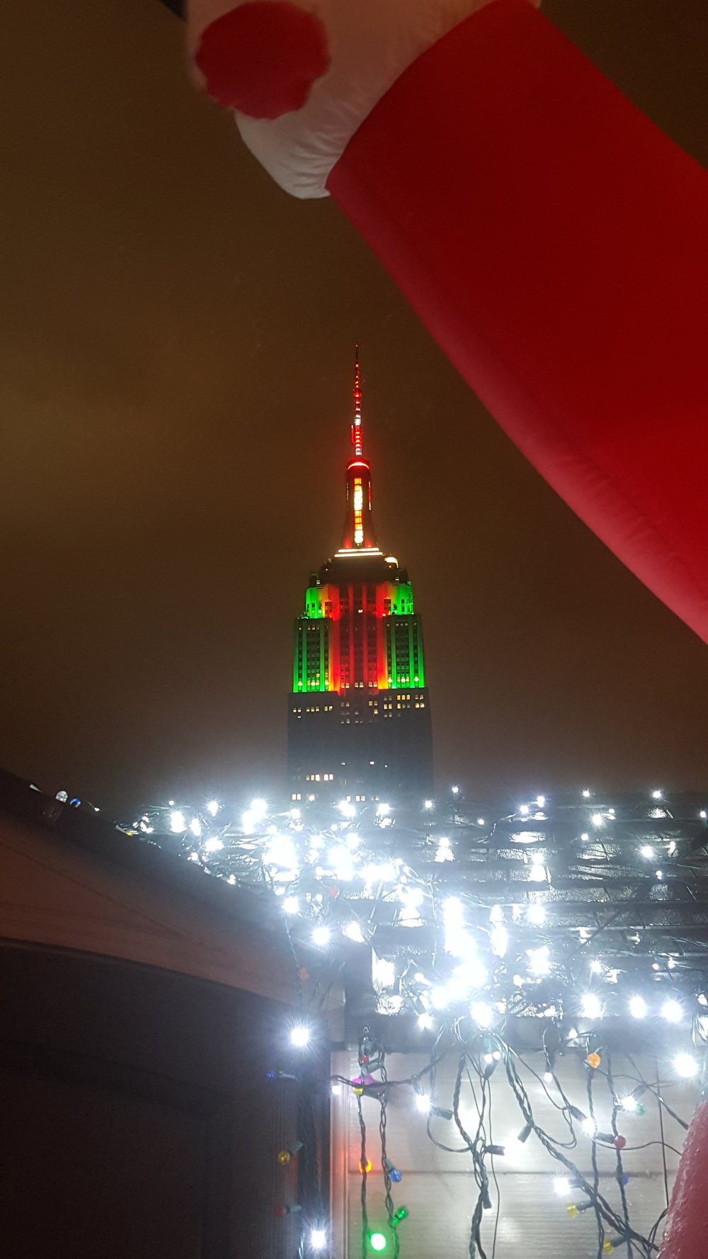 Empire State Building in Holiday colors